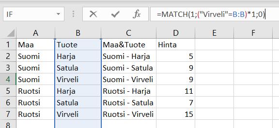 Excel Haku